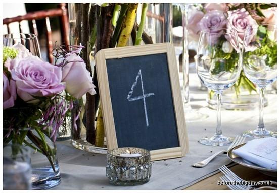 tablica i kreda wesele numery stołów