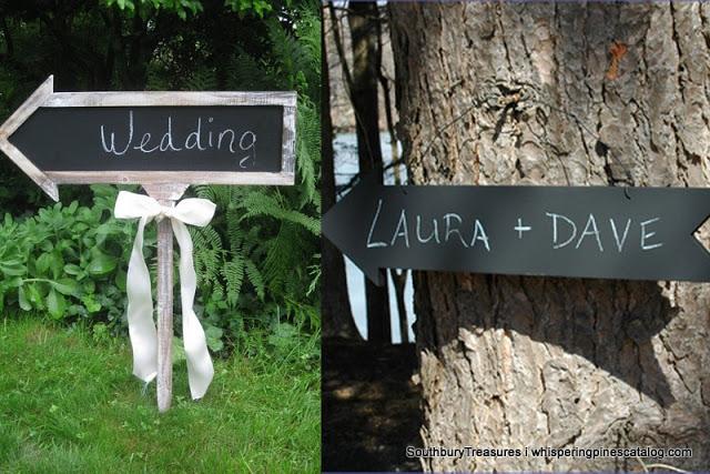 tablica kreda drogowskaz wesele