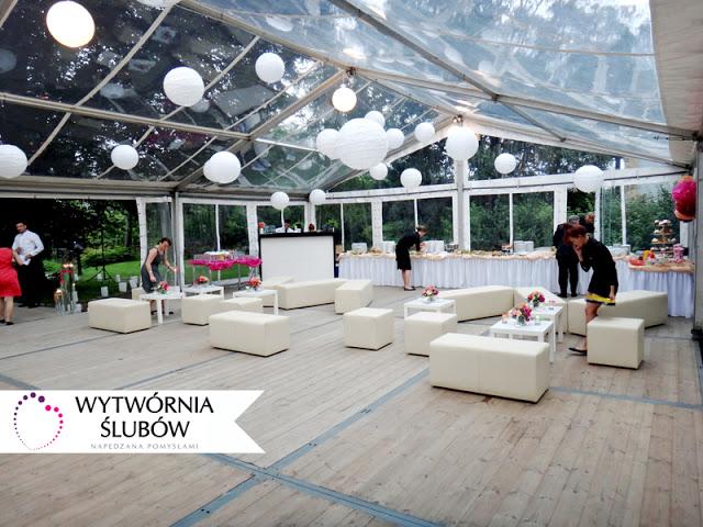 wesele w plenerze w namiocie Sopot