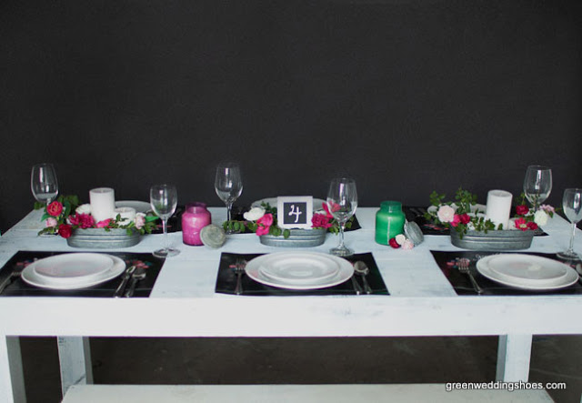 dekoracja stołu tablica kreda