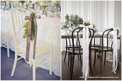 10 niebanalnych pomysłów na dekoracje krzeseł na weselu