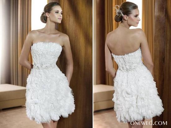 A może krótka suknia ślubna?