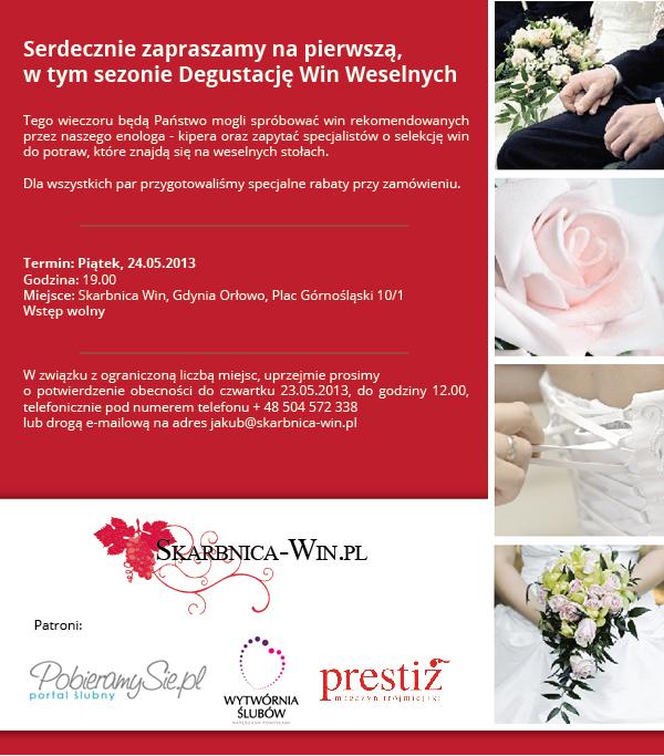 Degustacja win weselnych w Gdyni - 2013.05.24