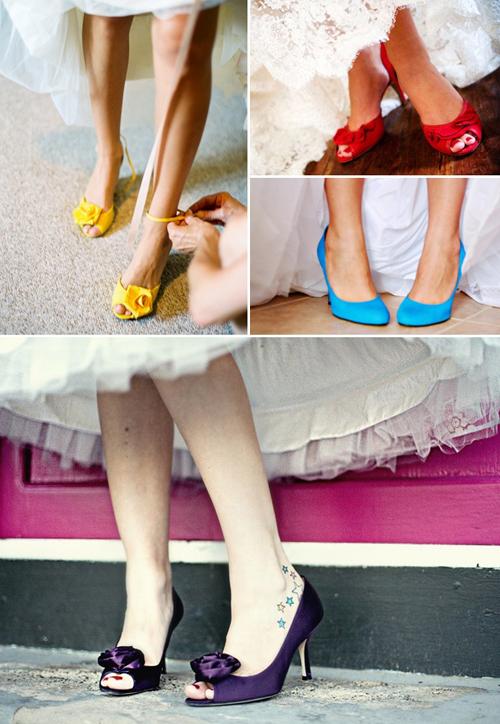 Wybór Wytwórni Ślubów: kolorowe buty