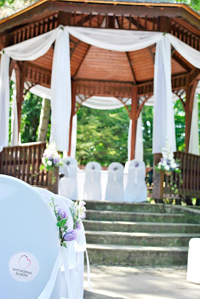 ślub w plenerze - altana w Parku Oliwskim w Gdańsku