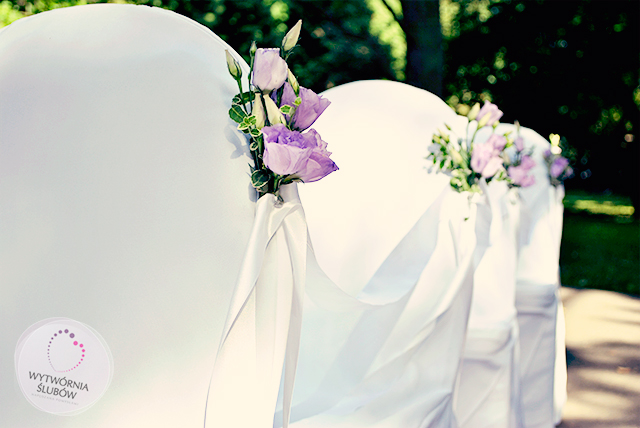 dekoracje ślubne frezje