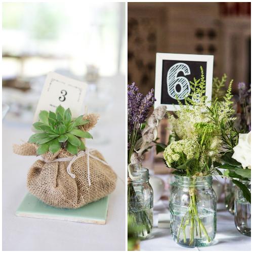 Numerki na stołach weselnych