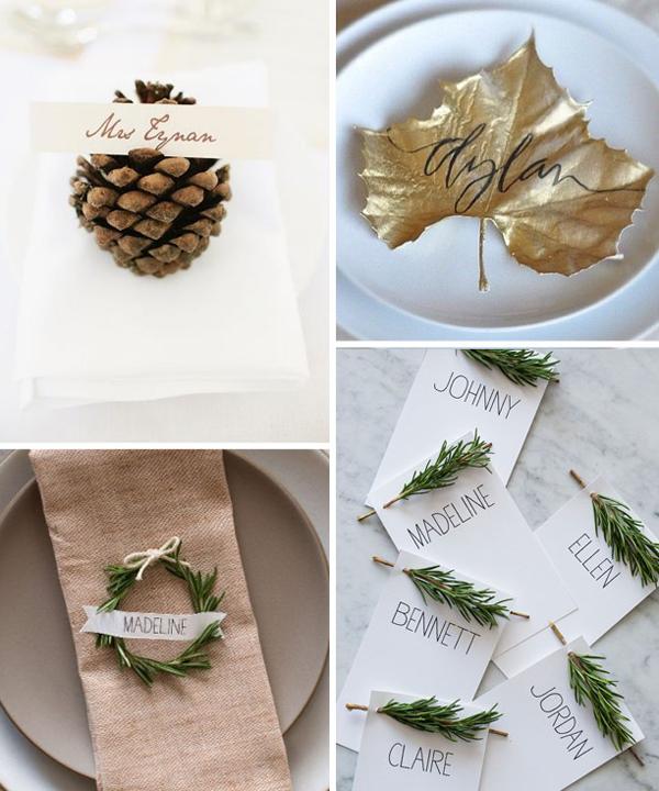 Zimowo-świąteczne dekoracje weselne