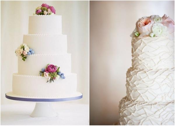 10 najpiękniejszych białych tortów weselnych
