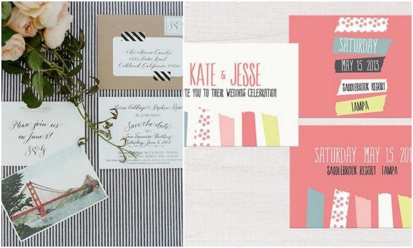 5 pomysłów na wykorzystanie washi tape na ślubie