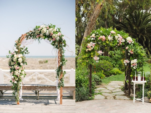 """""""Pergole"""" kwiatowe - ślub w plenerze"""