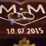 skrzyneczka na obrączki dekoracje ślubne
