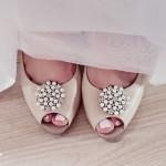 dekoracje ślubne klipsy do butów