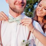 dekoracje ślubne - muszka