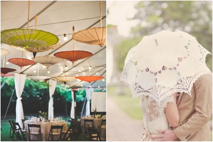 parasol na ślub