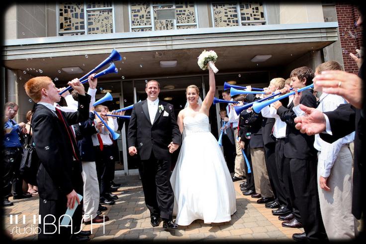 Ślub w temacie piłki nożnej
