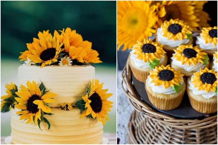 Słoneczniki na weselu