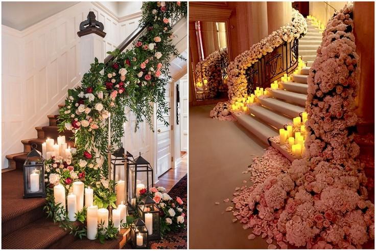 Kaskadowe dekoracje kwiatowe