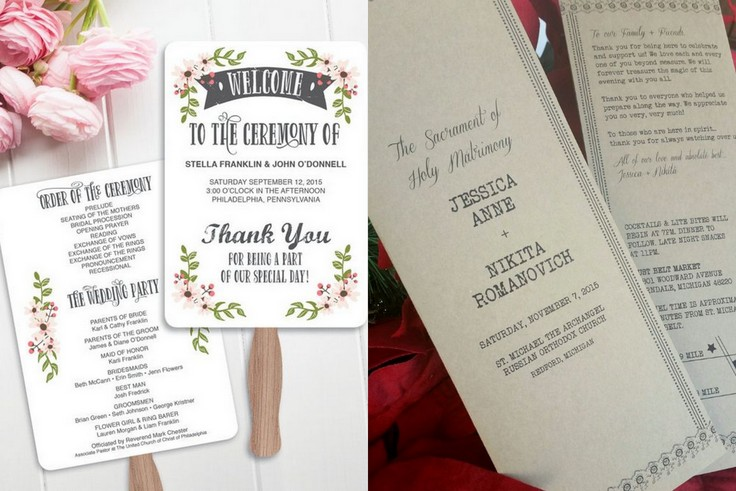 Program uroczystości ślubnej