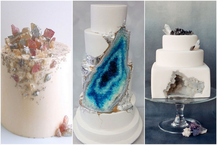 Torty weselne z minerałami