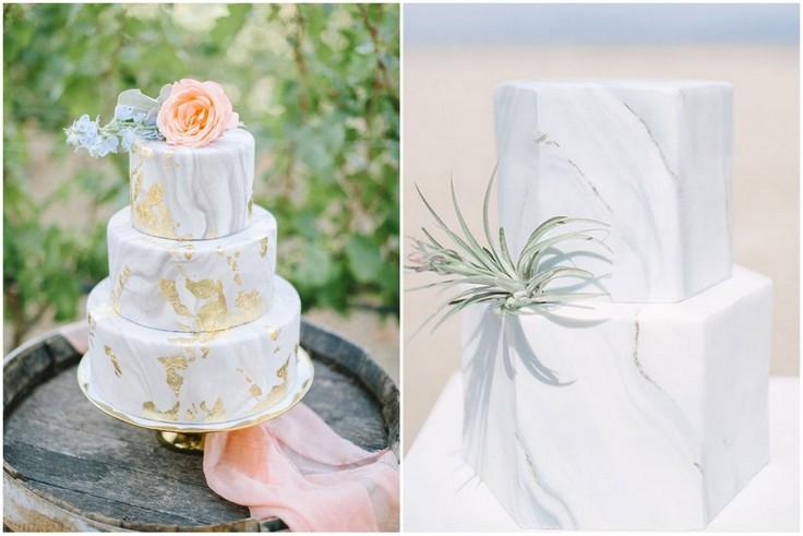 Torty weselne z efektem marmuru