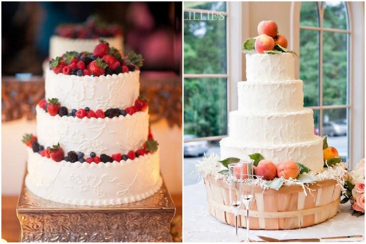 Torty weselne ze świeżymi owocami