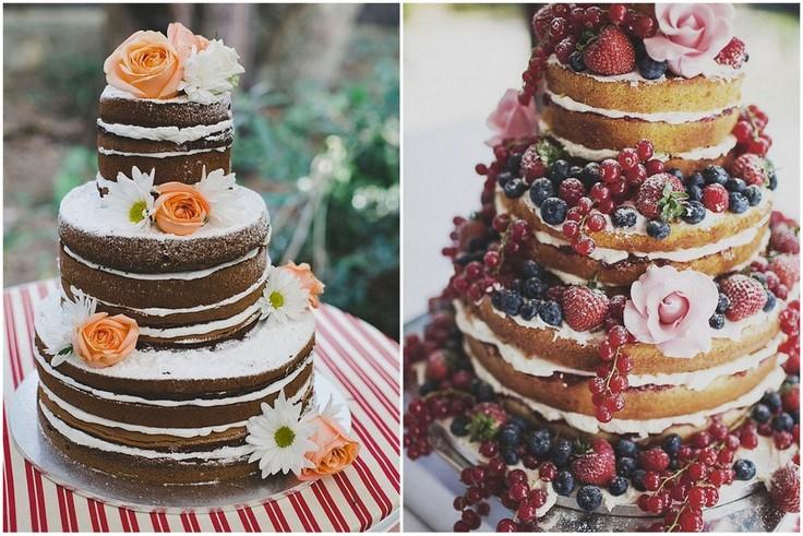 Torty weselne - naked cakes