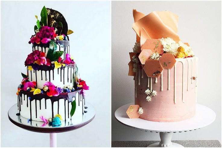 Torty weselne - drop cake