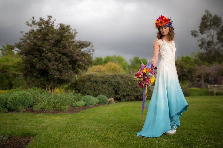 Suknia ślubna dip-dyed