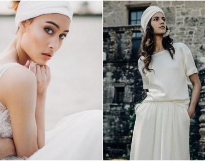 Ślubny turban dla Panny Młodej