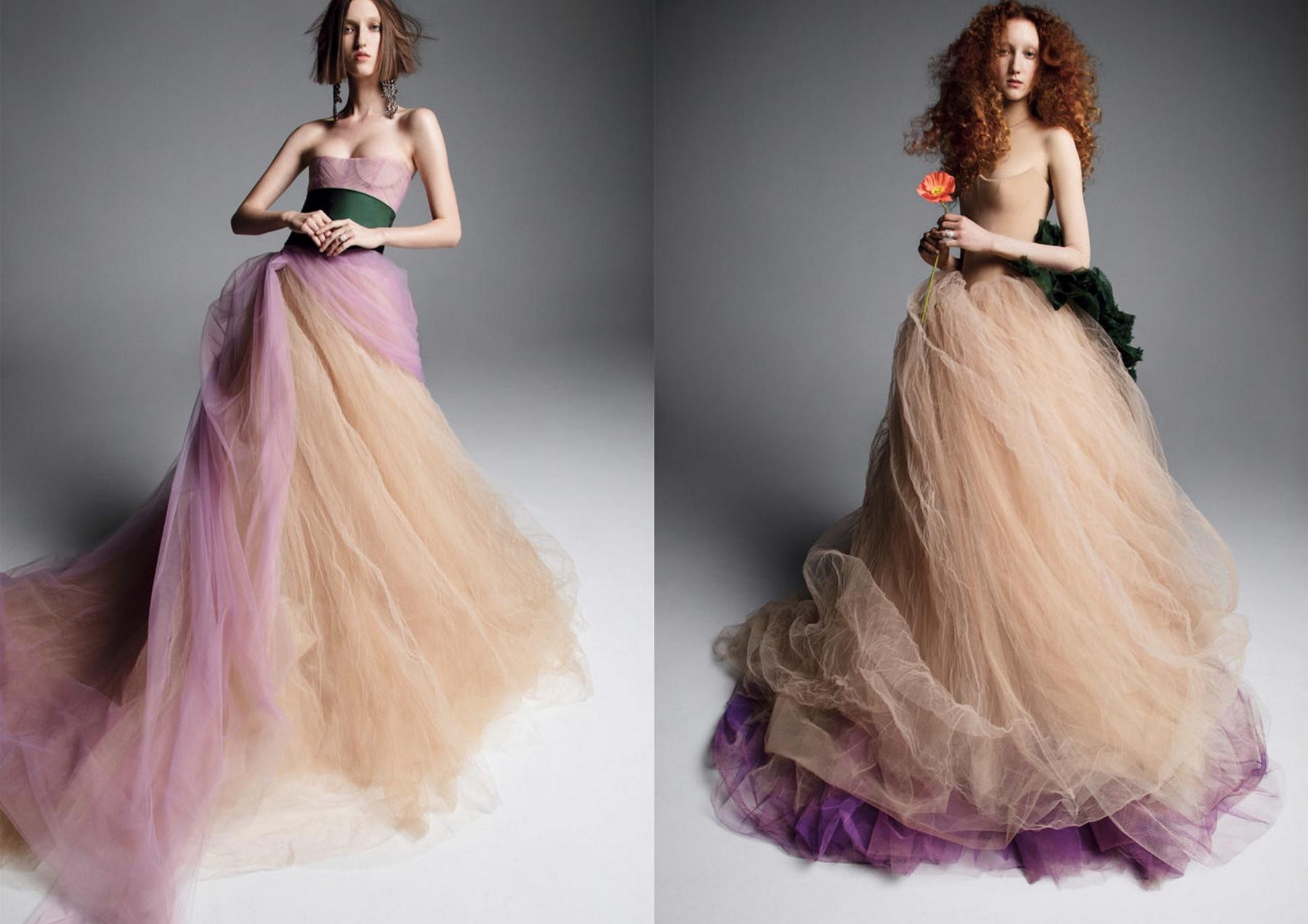 najmodniejsze suknie ślubne - kolorowe suknie ślubne