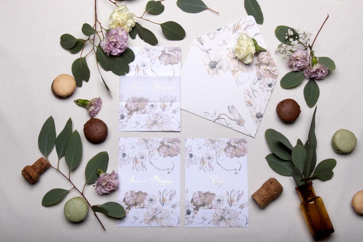 zaproszenia na slub_zaproszenia ślubne kwiaty