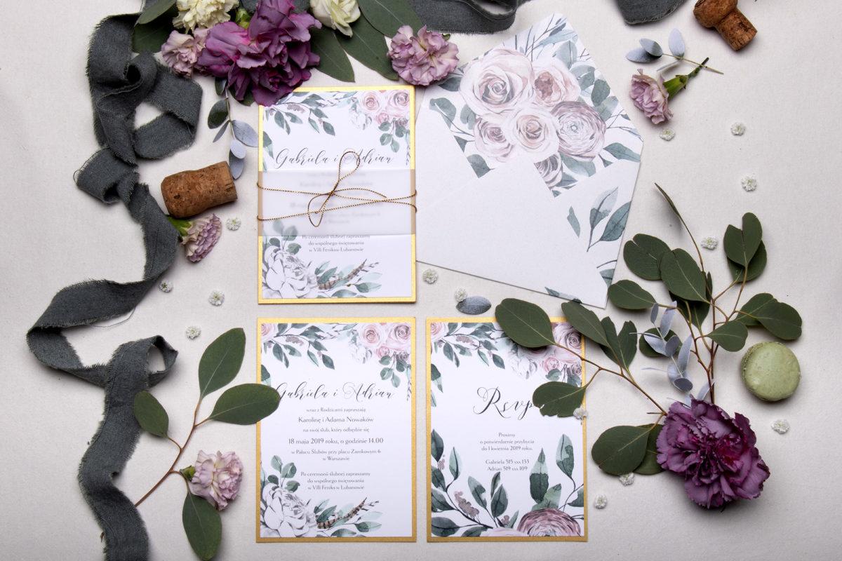 wyjątkowe zaproszenia ślubne_zaproszenia ślubne kwiaty