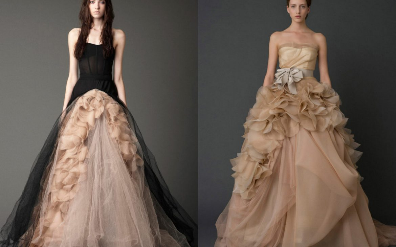 czarna suknia ślubna - moda ślubna